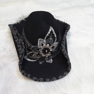 Accessories - Womens beaded cowboy hat